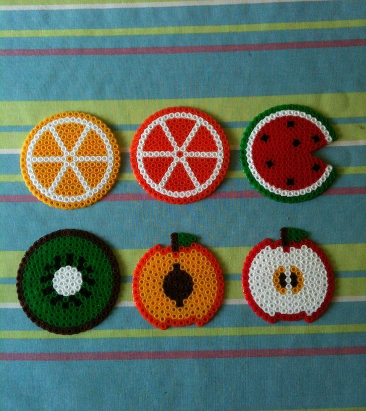 Fruit coasters  hama beads by El Rincón de BELAME