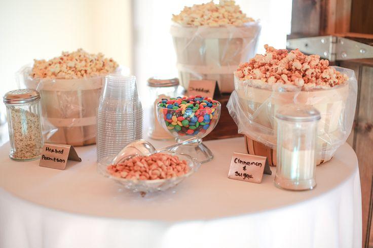 Bridal Shower Food IdeaPopcorn Bar