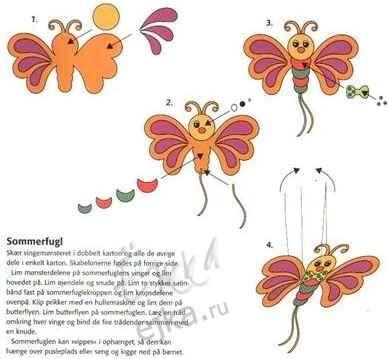 Творчество из цветной бумаги и картона - поделки вместе с детьми