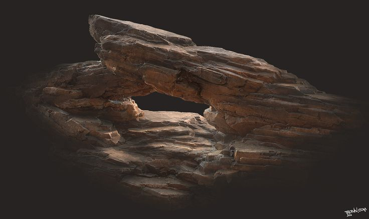 Desert Rock Formation 01, Jonas Ronnegard on ArtStation at http://www.artstation.com/artwork/desert-rock-formation-01