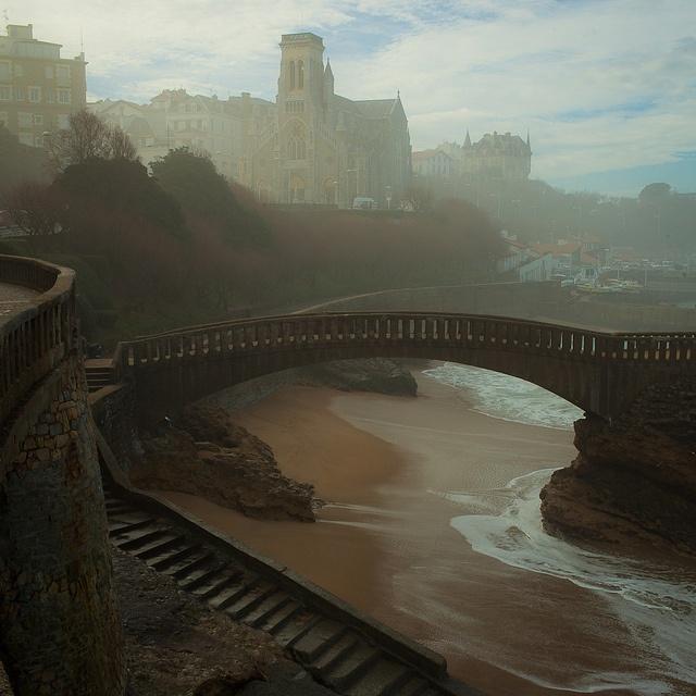 Foggy Bridge in Biarritz