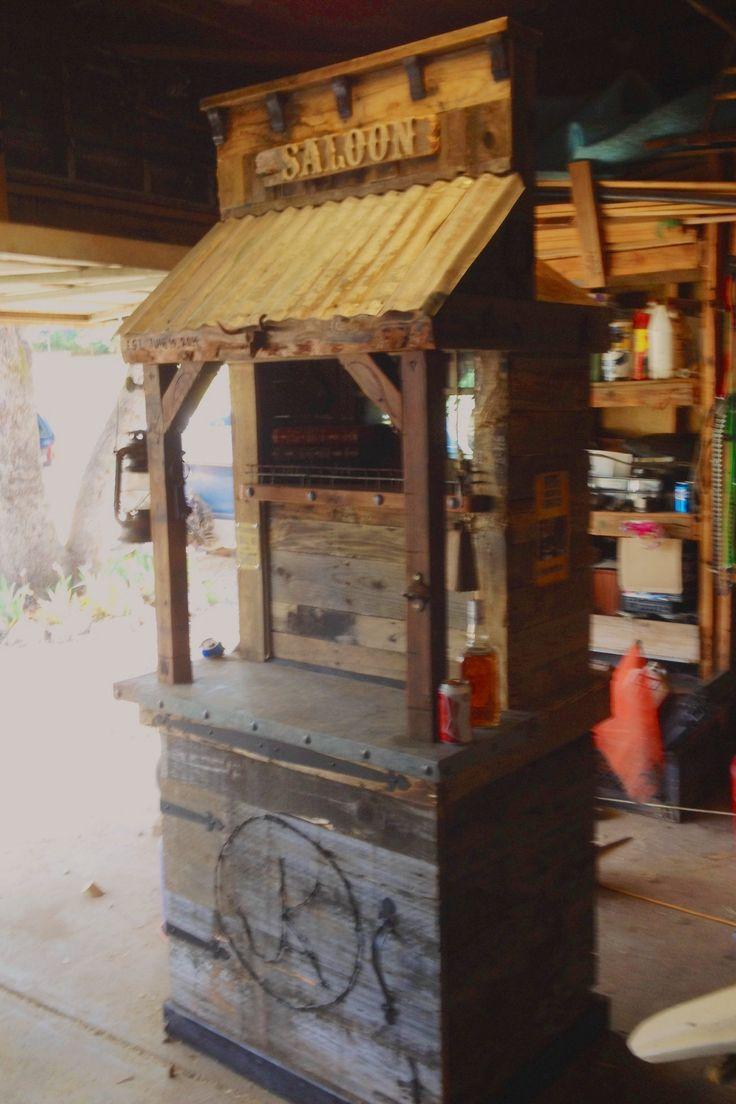 Saloon western bar kegerator/jockeybox
