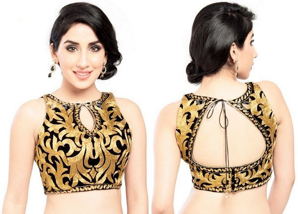saree blouse in emboss embroidery