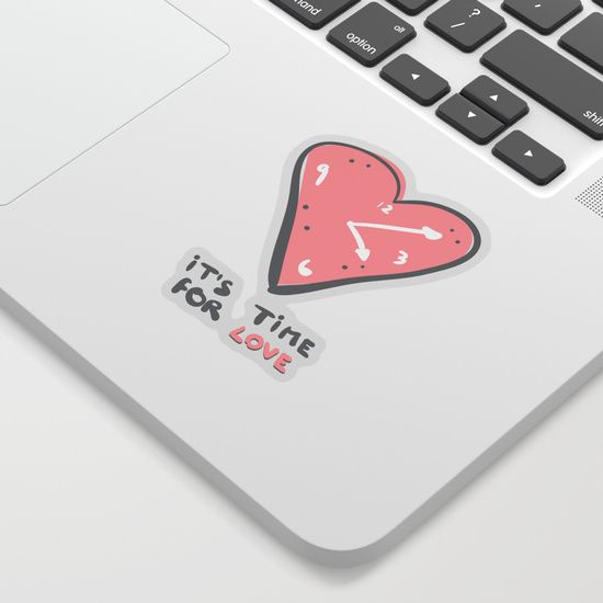 It's time for love Sticker