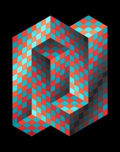 Victor Vasarely 1906-1997  Gestalt 4, 1970 Op Art