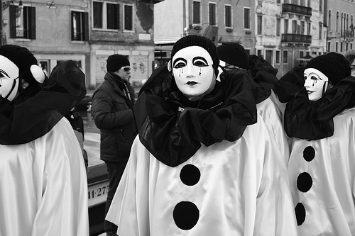 Venice 2012. Sad clowns... Pierrot