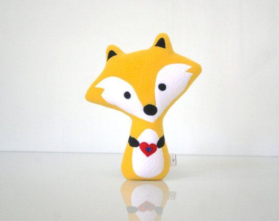 Fox Pillow  Fox Doll  Fox Toy  Fox Plush  Fox par WinterPetals