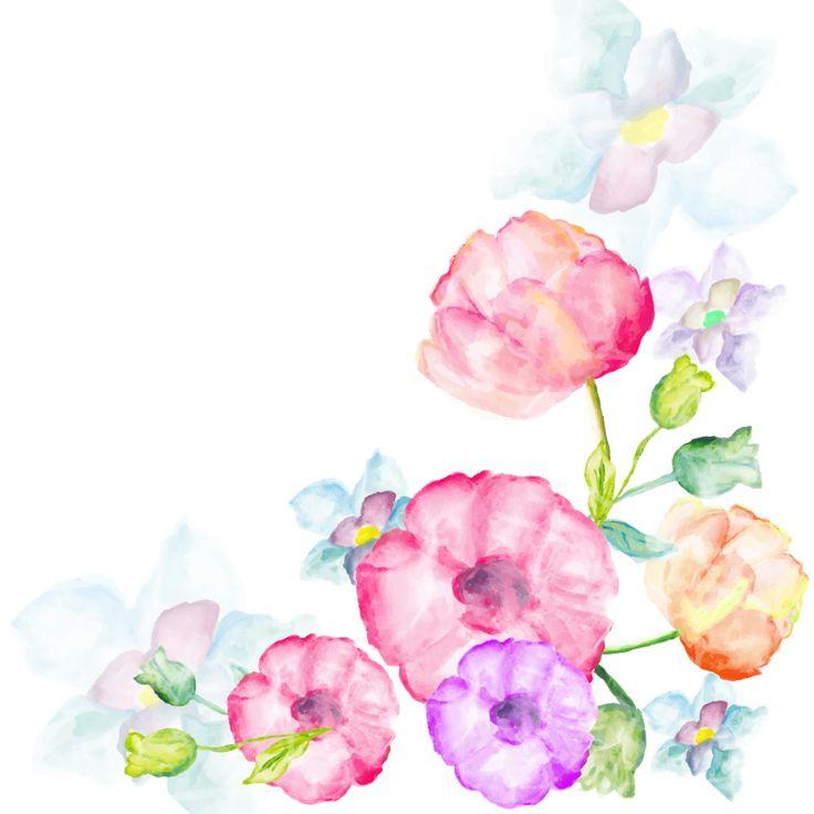 Цветы открытки акварелью