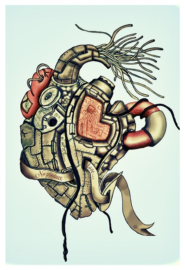 Heart by Kami Vasq, via Behance