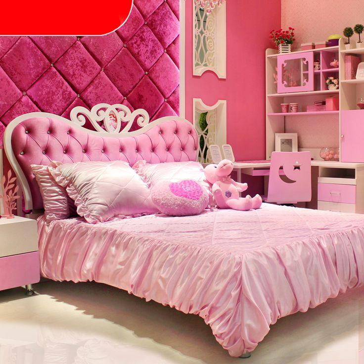 Розовая кровать для девочки в детскую комнату в интерьере купить в интернет-магазине https://lafred.ru/catalog/catalog/detail/18205330894/