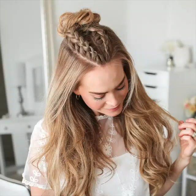 peinados bonitos e increibles para la escuela o una fiesta : )