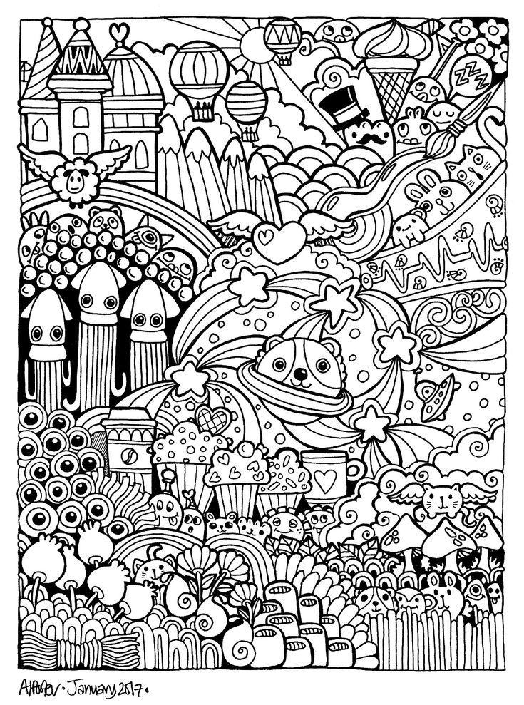 382 besten Doodle & Monster Coloring Pages Bilder auf Pinterest ...