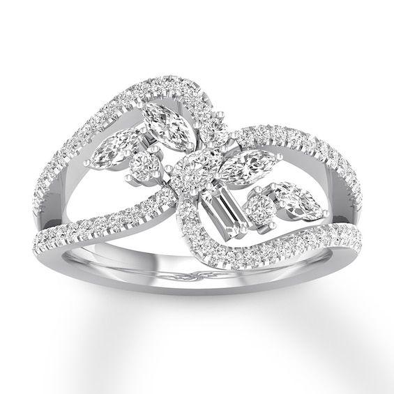 Pin By Dattatraya Chindarkar On Band In 2020 14k White Gold Engagement Rings Flower Engagement Ring Set Expensive Wedding Rings