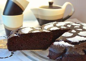 Фото к рецепту: Шоколадный пирог с рикоттой