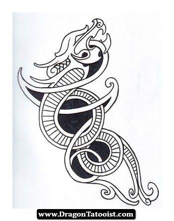 viking dragon tattoo 09 travis tattoo. Black Bedroom Furniture Sets. Home Design Ideas