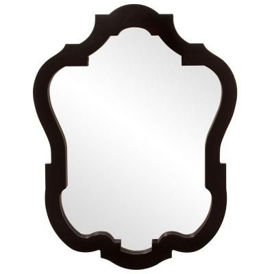 42 in. x 32 in. Glossy Black Classic Framed Mirror-92001 - The Home Depot