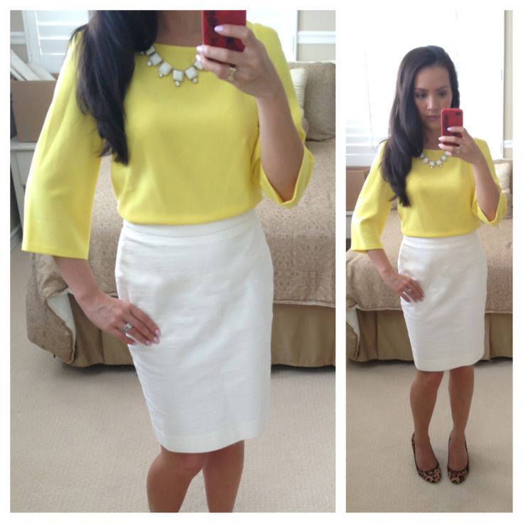 Yellow and white #OOTD