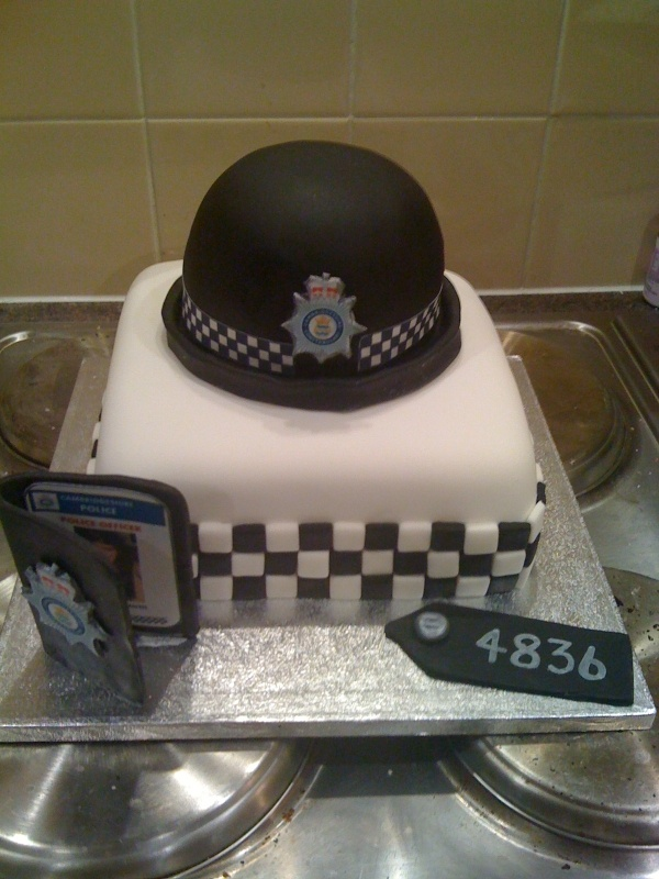 UK Female Police Hat Cake