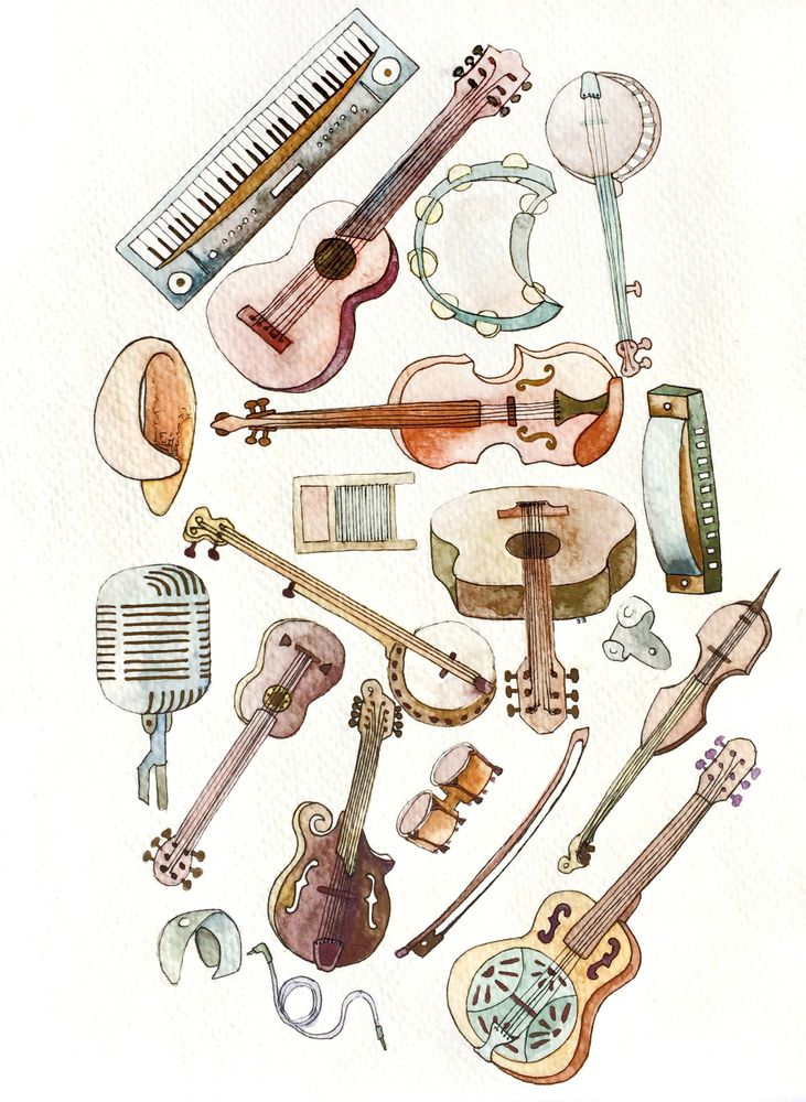 Pictures Of Musical Instruments To Print