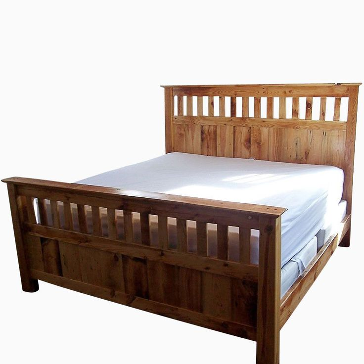 31 best the farmhouse making a king size spool bed for Mission style bed frame plans