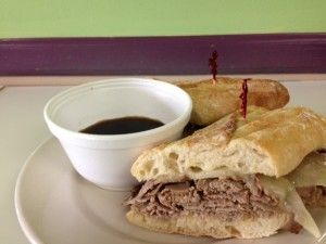 Good morning to each and every one of you. We have a good bit of news for you this week, and we're going to start with our lunch specials. Our first lunch special is our French Dip Sandwich; our slow cooked Roast Beef topped with melted Provolone Cheese and placed on a toasted French Baguette with Herb Mayo. We'll be serving this delicious sandwich with a side of warm Au Jus!