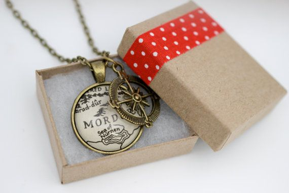 Map Jewelry Lord of the Rings 'Hobbiton' by PrettyLittleCharmsUK, $20.00