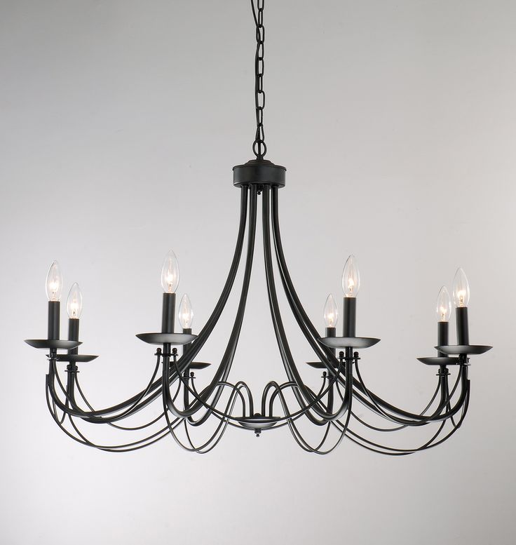Iron 8-light Black Chandelier - Overstock Shopping - Great Deals on Otis Designs Chandeliers & Pendants