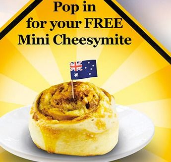 Bakers Delight: Free Cheesymite Scroll Australia Day