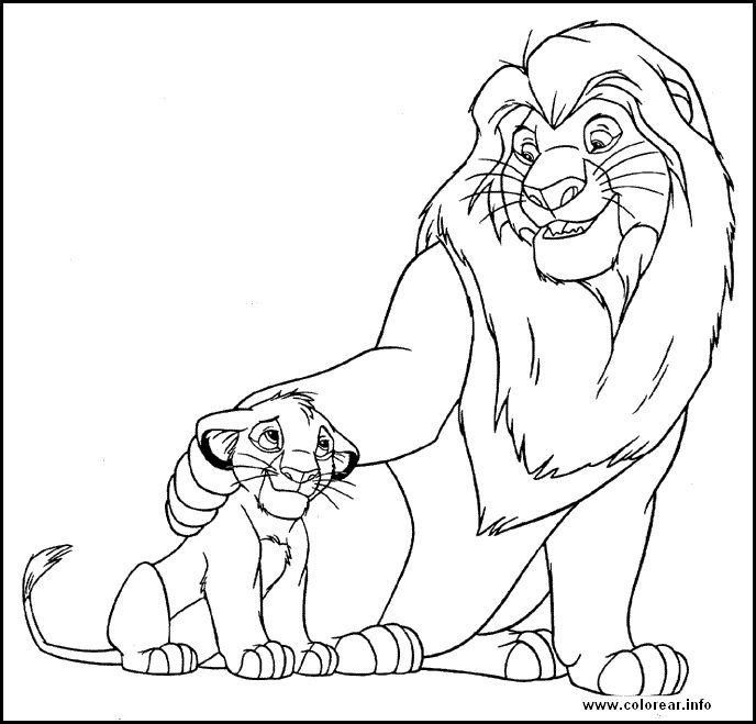 desenhos do filme o rei leo para colorir