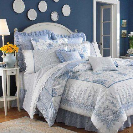 Elegance In Subtle Floral Splendor. The Sophia Comforter Set By Laura  Ashley Is A Graceful Blend Of Romantic Florals In Subtle Colors That  Creates A ...