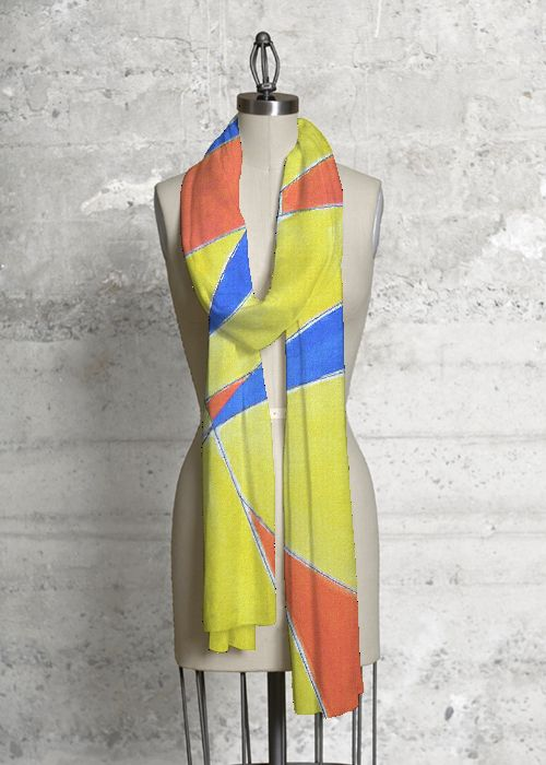 Silk Square Scarf - SUNLIGHT FRANCE by VIDA VIDA