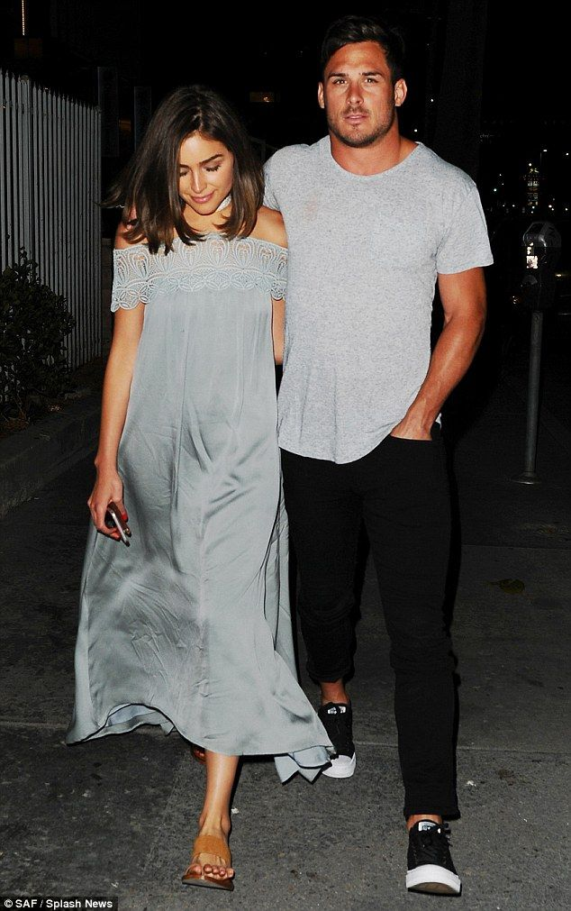 New romance: Olivia, who split with pop starNick Jonas in June 2015, is now dating New England Patriots football star Danny Amendola. The couple are pictured in LA in June
