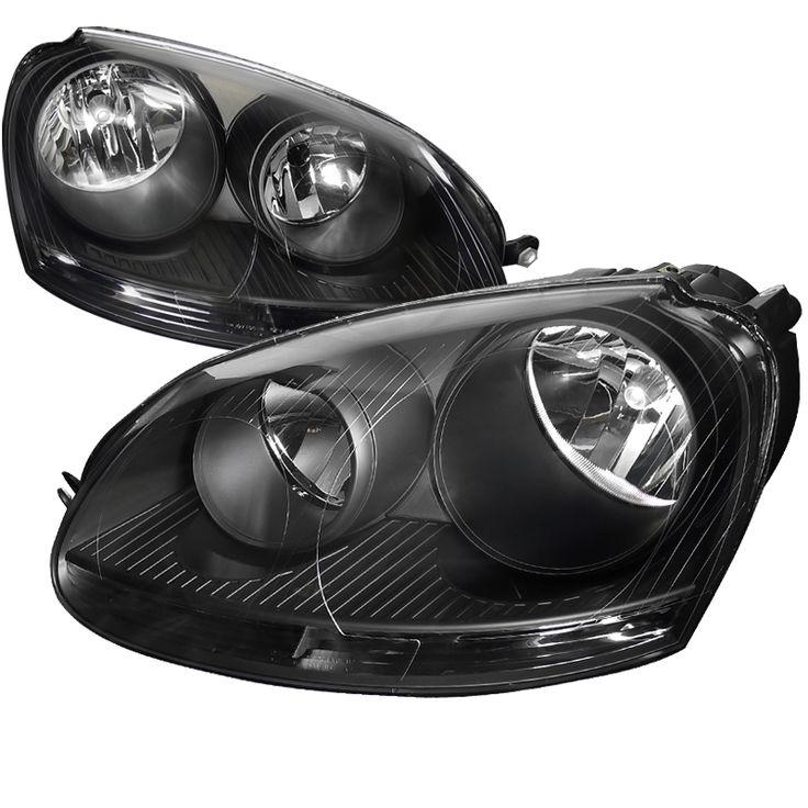 Volkswagen Jetta 2005-2010 Black Euro Headlights