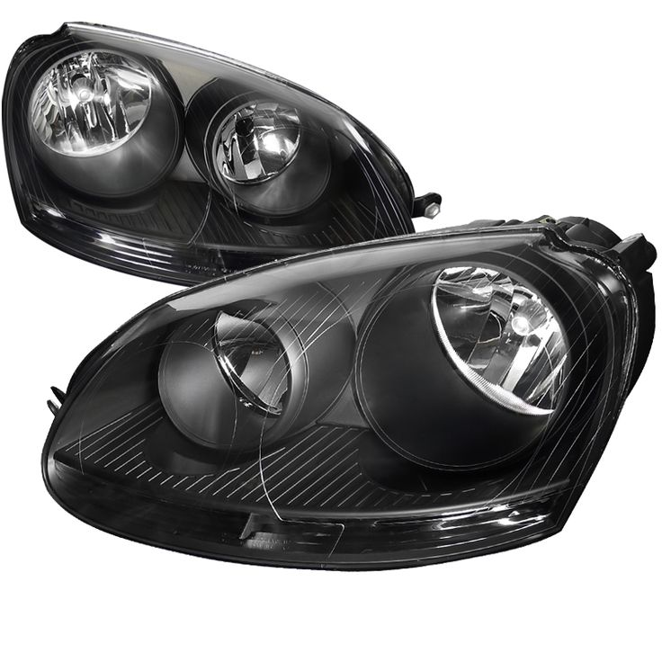 Volkswagen Jetta 2005-2010 Black Euro Headlights