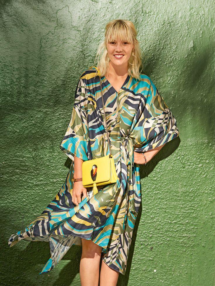 Платье-кафтан - выкройка № 105 A из журнала 7/2017 Burda – выкройки платьев на Burdastyle.ru