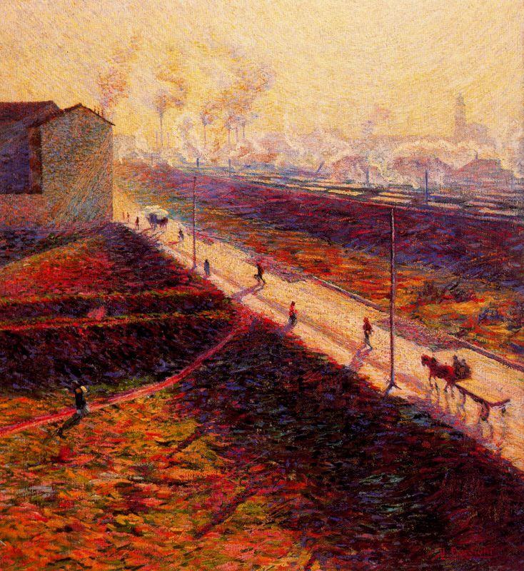 The Morning by Umberto Boccioni, 1909 - Umberto Boccioni - Wikipedia, the free encyclopedia