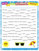 It is a graphic of Zany 4th Grade Mad Libs