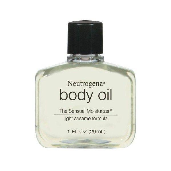 Neutrogena Light Sesame Formula Body Oil -  oz ($1.49) ❤ liked on Polyvore featuring beauty products, bath & body products, body moisturizers, neutrogena body moisturizer, body moisturizer and neutrogena
