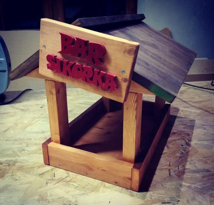 Karmnik dla ptaków #wood #woodwork #creative #garage