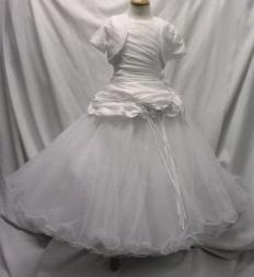 DABI LP80269 White Communion Dress + Bolero 6 TO 10yrs