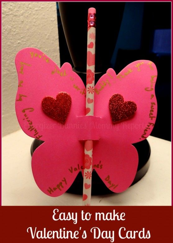 Easy to make, D.I.Y., Valentine's Day Butterfly Cards (with Tutorial)- Energizer Bunnies' Mommy Reports