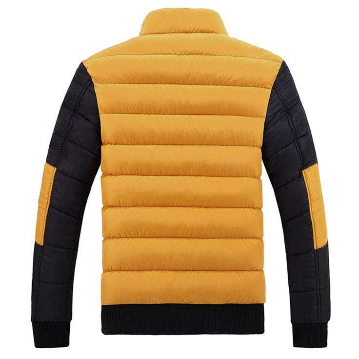 Nueva chaqueta de invierno 2016 hombres de la marca gruesa caliente abajo capa de la chaqueta para hombre 8809 invierno Prendas Cremalleras de Down Parka Mens sólido Puffer