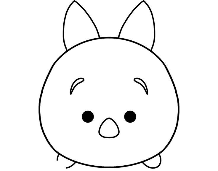 Disney Tsum Tsum Para Colorear Piglet Tusm Tusm
