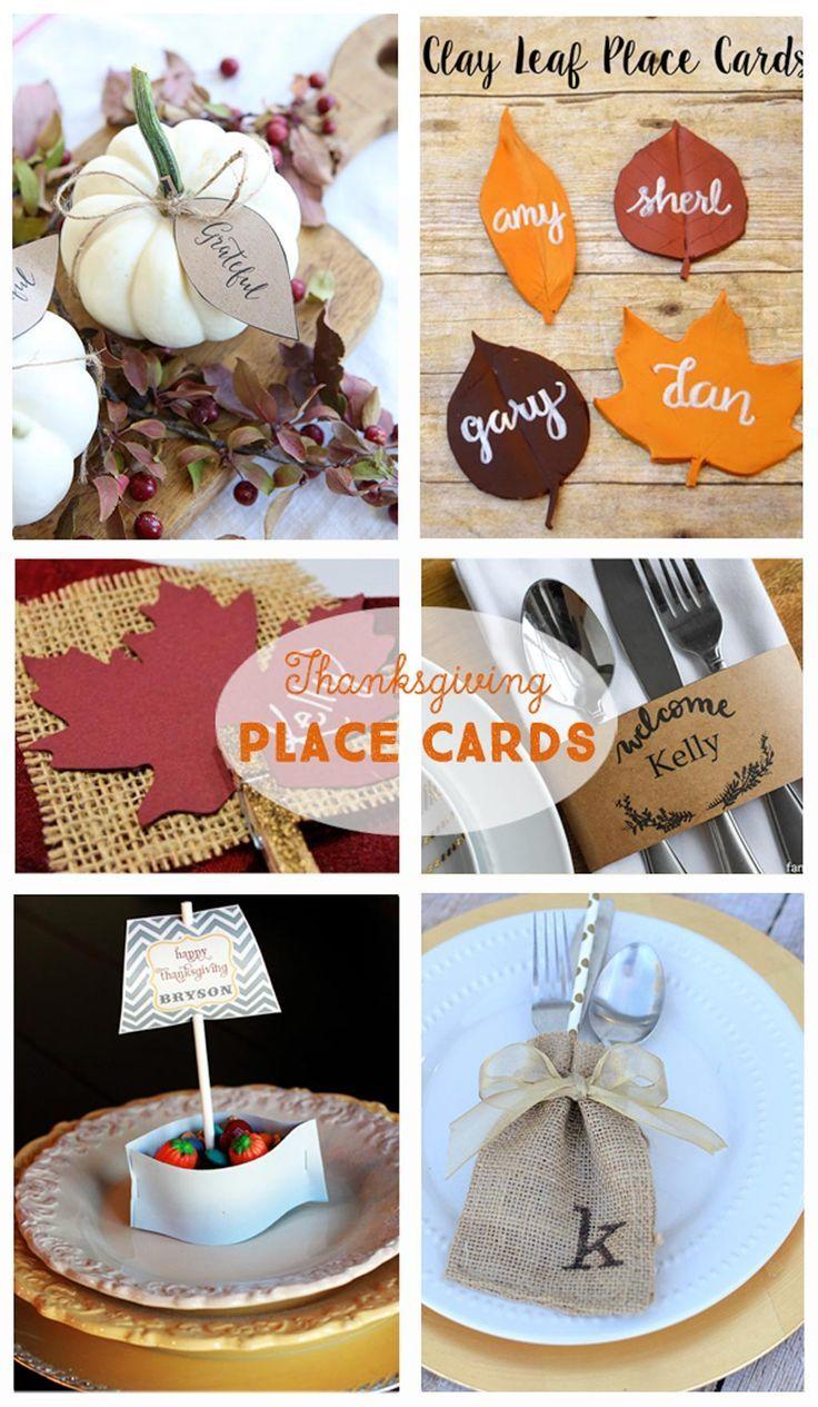 DIY Thanksgiving Tablescapes Thanksgiving Name CardsDiy