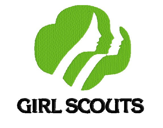 Girl Scouts Logo Filled Machine Embroidery Design in 5 Sizes. $3.99, via Etsy.