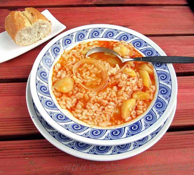 Cocido de patata y arroz Por tan solo 173  (kcal/100g) calorías. http://www.recetasycalorias.com/2014/01/cocido-de-patata-y-arroz.html