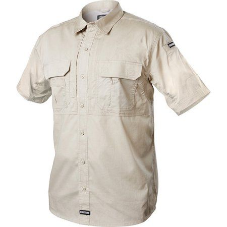 Blackhawk Tactical Pursuit Short Sleeve Shirt Stone Small, Men's, Gray