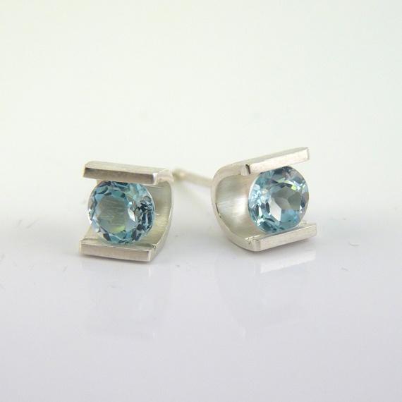 Topaz Stud Earrings by Niamh Spain on Rise Creatives