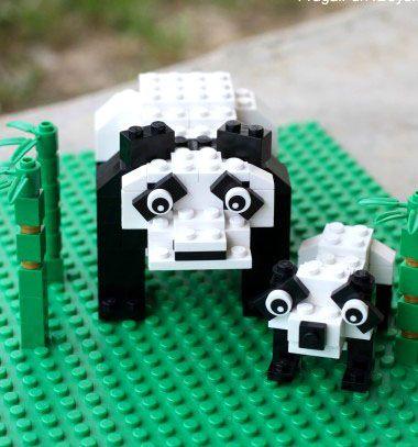Lego pandas (with building instructions) / Legó pandák (építési útmutatóval) / Mindy - craft tutorial collection