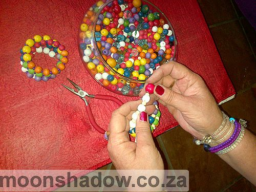 Lots of beading happens in our studio! Moonshadow also has a selection of beads for sale, and offers regular #bead #workshops. #Swellendam #Overberg #SouthAfrica
